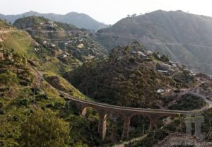 Train Bridge. Escarpment near Asmara. Eritrea. Africa.