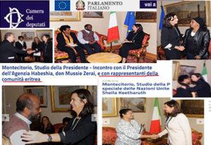 Fake news: Laura Boldrini riceve la Comunità Eritrea:
